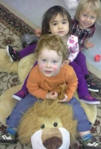 Poppy, Amelua, and Oliver move to Childrens House 1.