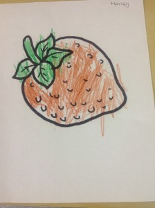 Strawberry coloring