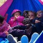 Toddlers Hangout in a Hammock