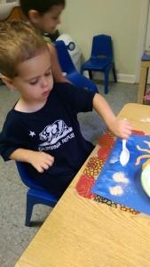 Dawson doing sand art 2