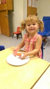 Elsa and her cupcake